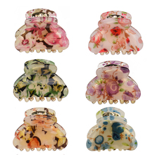 Women headwear flower hair clip vintage claw 6 pcs/bag lot accessories for women