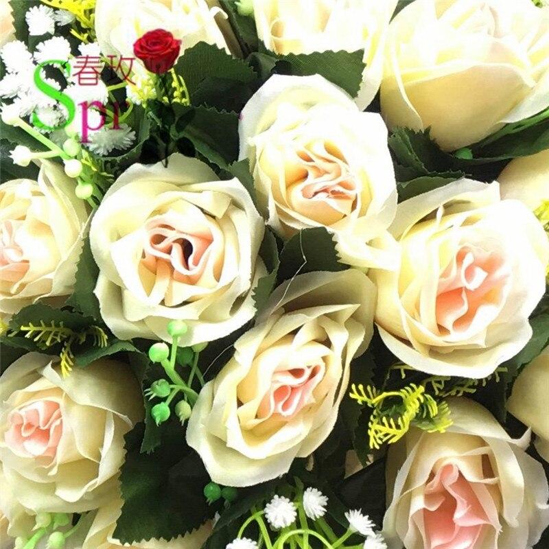Spr شحن مجاني! 10 قطعة/الوحدة الشمبانيا الزفاف الجدول محور الطريق الرصاص الاصطناعي الن التقبيل الكرة الزهور الكرة الديكور-في زهور مجففة واصطناعية من المنزل والحديقة على  مجموعة 3