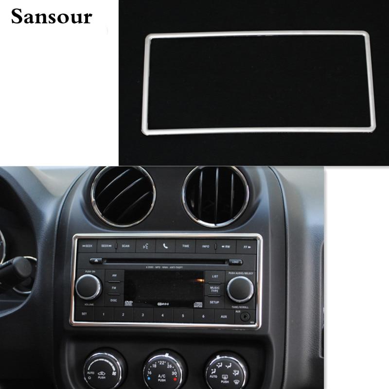 Car Interior Center Console Decoration Frame For Jeep Patriot Compass Liberty 2011 2015 For Wrangler 07