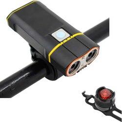 6000LM USB światło rowerowe 2x XML L2 lampki rowerowe led z akumulatorem przednia lampka rowerowa + uchwyt na kierownicę w Oświetlenie rowerowe od Sport i rozrywka na
