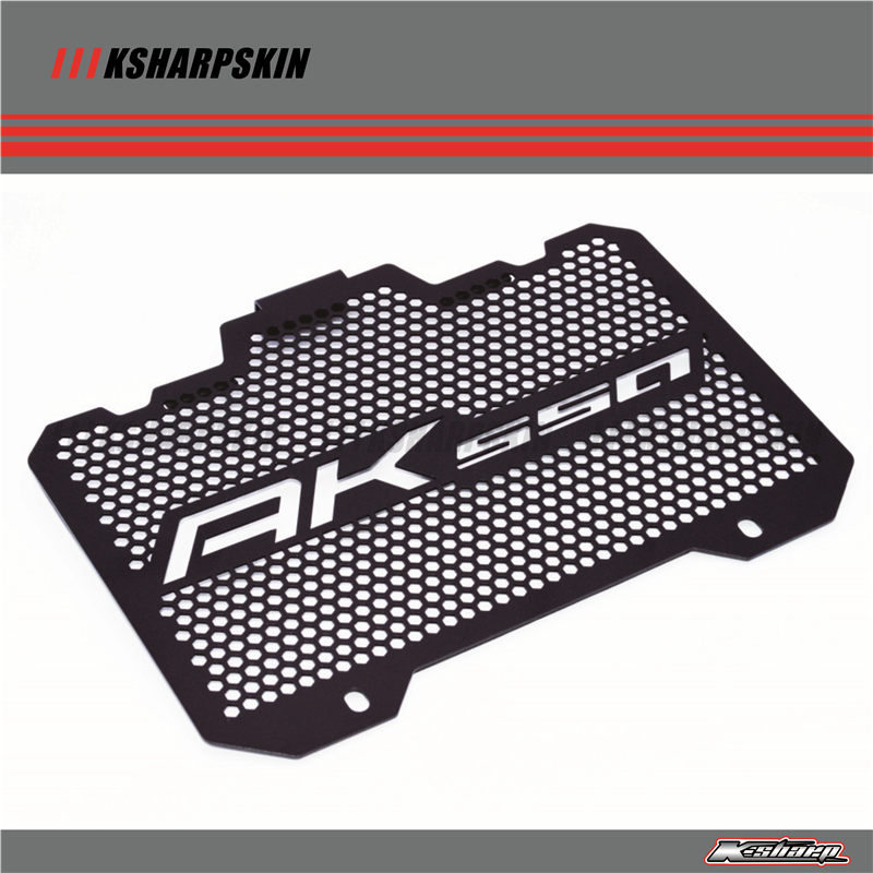 Motorcycle Radiator Grille Guard Cover Protectornk For KYMCO AK550 2017 2018 mtkracing for kymco ak550 motorcycle parts headlight protector cover screen lens ak 550 2017 2018