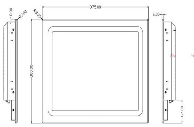 Sollys-lesbar industripanel PC, Core i3-3217U CPU, 4 GB DDR3 RAM, 500 - Industrielle datamaskiner og tilbehør - Bilde 2