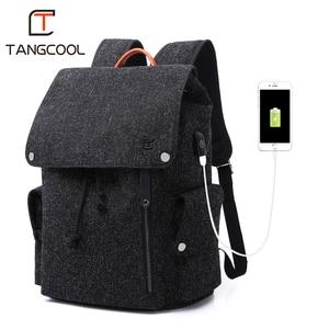 Image 3 - Mens Backpacks Mochila For 15 Inch Laptop USB Backpack Fashion Stundet Schhol bag Teens Backpack Water Repellent Rucksack women