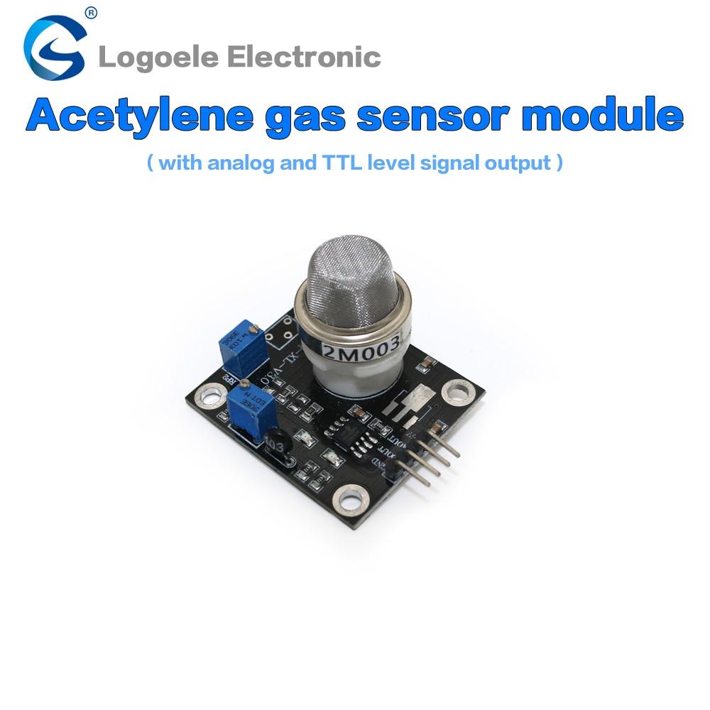 Acetylene detection sensor semiconductor gas sensor module qualitative detection 1pcs current detection sensor module 50a ac short circuit protection dc5v relay