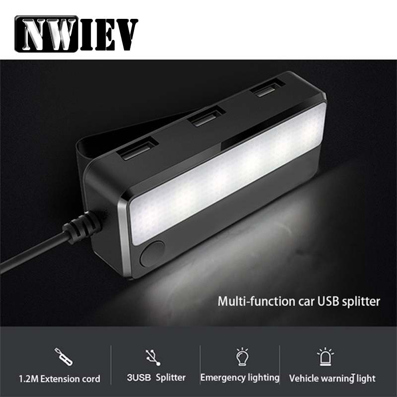 NWIEV Car <font><b>USB</b></font> Power <font><b>Adapter</b></font> Warming Reading Light For BMW X5 E53 <font><b>VW</b></font> <font><b>Golf</b></font> 4 7 <font><b>5</b></font> Tiguan Kia Rio Sportage Fiat 500 Accessories image