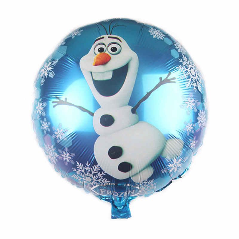 XXPWJ Novo 18-polegada em torno do personagem dos desenhos animados balão de alumínio criança birthday party festival decoração brinquedo auto-vedação DD-083