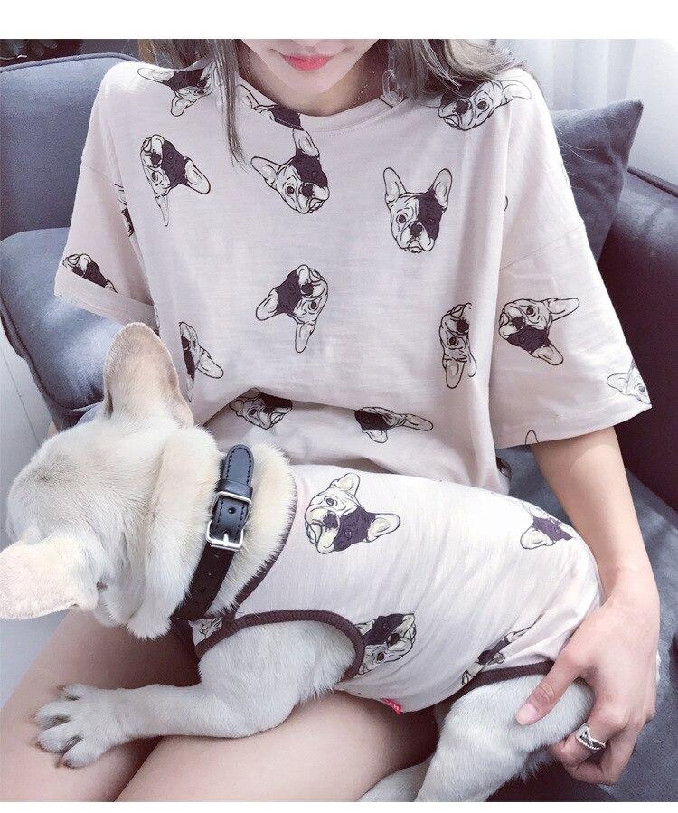 Family clothing for pet T shirt cat vest vests dog coat Parent dog couple clothes Dog Apparel dog vest outfit Personalize Design