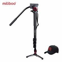 Miliboo профессиональный монопод из углеродного волокна Плоский тепла мини-штатив переносной Gorillapod 1/4 »3/8» винтовая подставка DSLR Камера видео