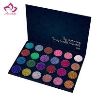 Aurelife 24色グリッターアイシャドー明るい虹アイシャドウ化粧品メイクアッププレストスパークルパウ