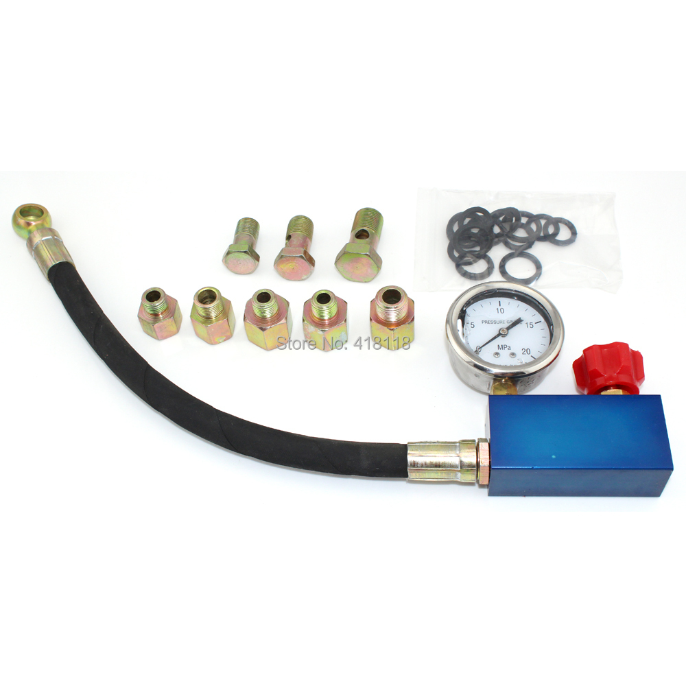Auto Hydraulic Power Steering System Pressure Gauge Tester Set