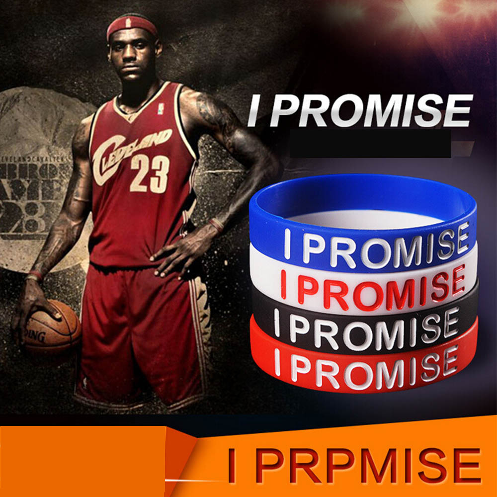 I SHOW Ali Store NO. 66 I Show I Promise bracelet Basketball Sports Wristband Silicone Gym Fitness Power Bands Energy Bracelets For Man Women jewelry