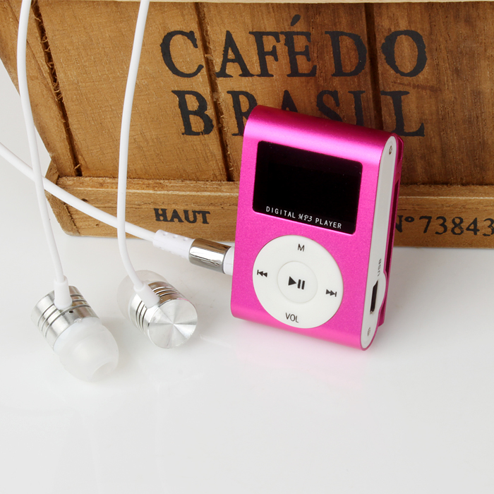 aaaaad9b120b Лидер продаж ЖК-дисплей Экран Мини Clip MP3 плеер электронные спортивные  Металл Мини MP3 плеера Поддержка 32 ГБ Micro SD TF карты