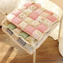 HOME FIRST Cute Crochet Hollow Bubble Pad Dining Cushion