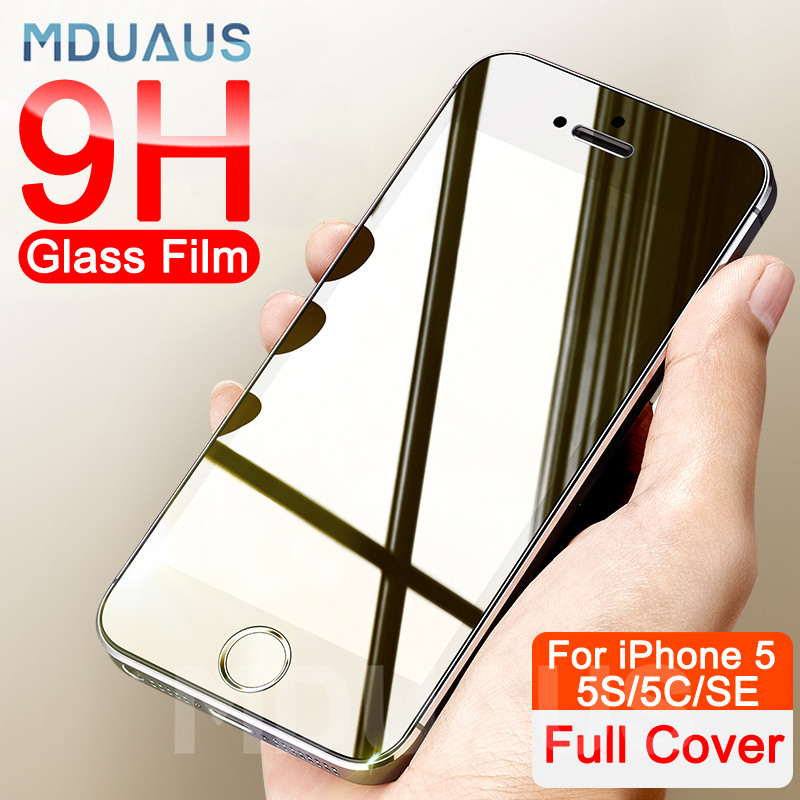 3D 9H Anti-Burst Protective Glass On The For IPhone 5S SE 5C 5 Tempered Screen Protector Glass For IPhone 5S SE 4 4S Film Case
