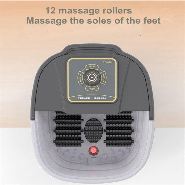自動赤外線電気 12 足マッサージローラー加熱されたマシン足ケア装置バレルスパバス治療ローラー脚マッサージ