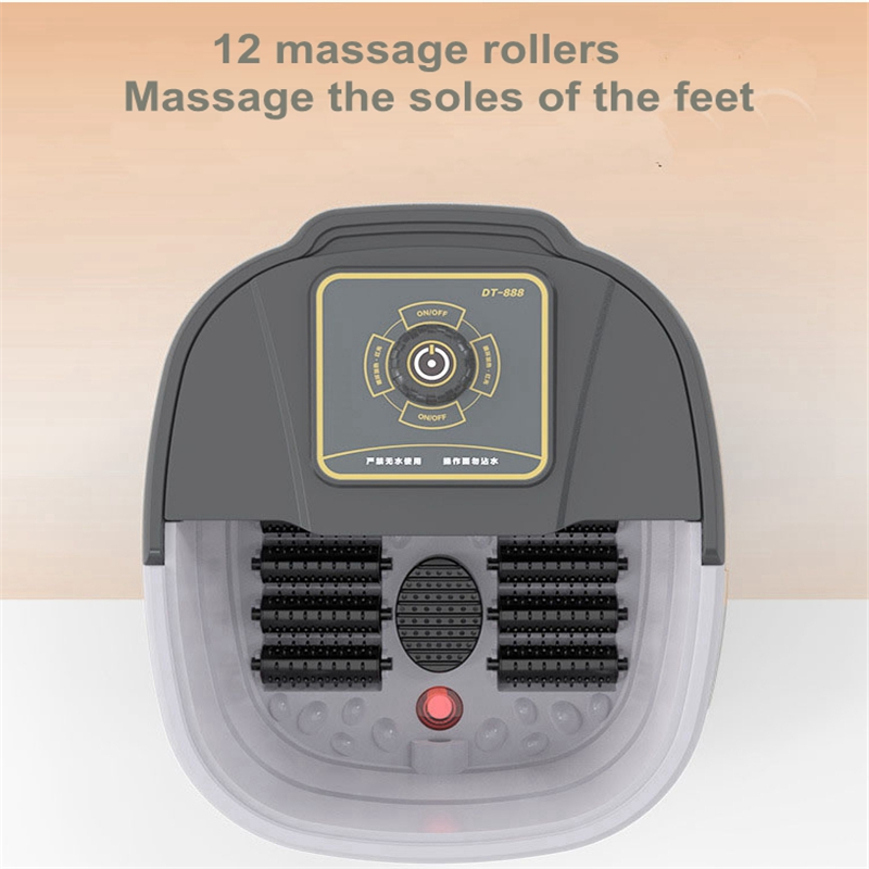 Automatic Infrared Electric 12 Foot Massage Rollers Heated Machine Foot Care Device Barrel Spa Bath Therapy Rollers Leg Massager-in Massage & Relaxation from Beauty & Health