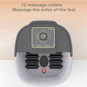 Image 1 - Automatische Infrarot Elektrische 12 Fuß Massage Rollen Erhitzt Maschine Fußpflege Gerät Barrel Spa Bad Therapie Rollen Bein Massager
