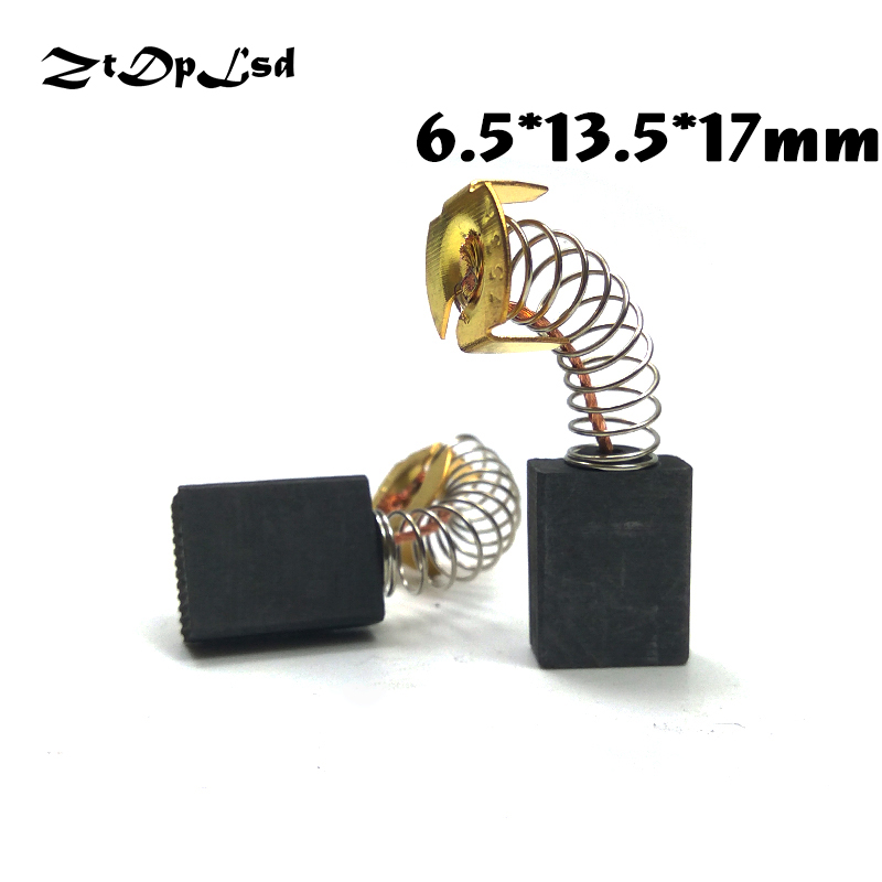 ZtDpLsd 2 Pcs/Pairs 6.5x13.5x17mm Mini Drill Electric Grinder Replacement Carbon Brushes Spare Parts For Electric Rotary Tool