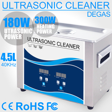 4.5L Ultrasonic Bath Sonic Transducer 180W 40khz Heater Degas Ultrasonic Cleaner Remove Oil Car A/C Filter Screw Lab Instruments 6 liter ultrasonic cleaner for ophthalmic instruments