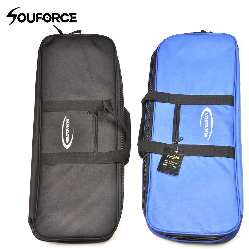 Black/Blue Recurve Bow Bag Easy Carrying Bow Case for Bow and Arrow Handle Carrying Waterproof Archery Bag Accessories Outdoor dmar archery quiver recurve bow bag arrow holder black high class portable hunting achery accessories