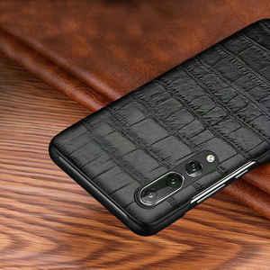 Image 5 - جلد طبيعي حالة لهواوي P20 برو حالة بتنبيهه الهاتف غطاء ذكي كوكه لهواوي P20 حالة مع نافذة عرض