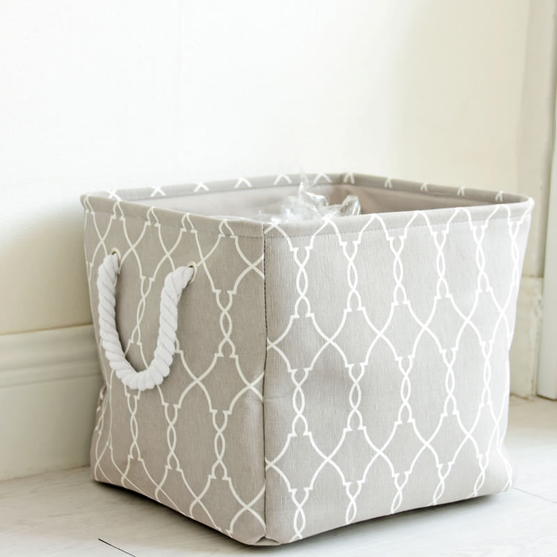 Grey Portable Large Dirty Laundry Basket For Clothes