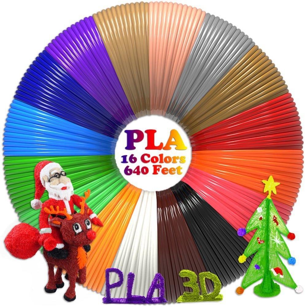 Dikale PLA Filament 16Colors 3D Printing Material 1.75mm 3 D Printer Filament 3D Stift Impresora 3D Caneta Filamento PLA Refills 1 75mm pla 3d printer filament printing refills 10m