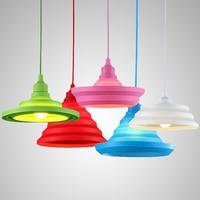 Открытый Подвесные Светильники hanglamp подвесной светильник светильники Красочные силикагель Освещение для ресторан-бар/Спальня дома Abajur лю...