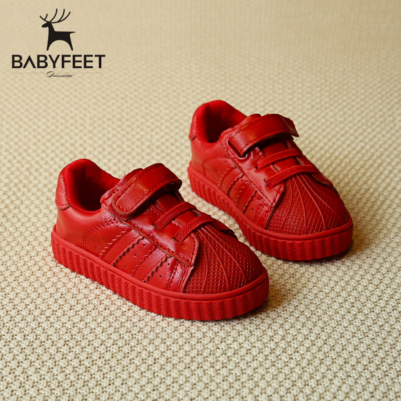 Babyfeet children 's sports shoes microfiber leather infant Child baby boys casual shoes girls kids sneakers breathable loafers children s shoes boys and girls ultralight casual sports shoes children fashion sneakers mesh fabric breathable travel shoes