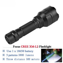 Rechargeable Led Flashlight CREE XML T6 XM L L2 Waterproof 5 mode 18650 battery tactical hunting camping bicycle flash light