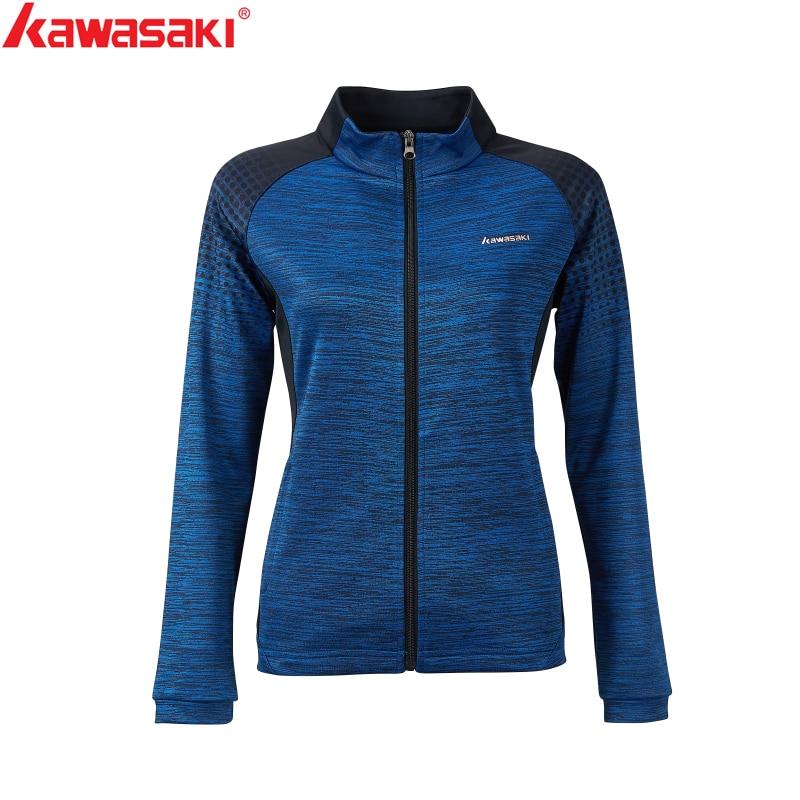 Kawasaki New Autumn  Sports Jackets  Breathable Comfort Fitness Badminton Tennis Jackets Couple Models With Zipper JK-S2803