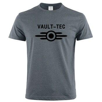 Vault Tec Логотип Игровой видеоигры Fallout 2 3 4 футболки топы футболки мужские классические повседневные одежда модные футболки Vault-Tec Fashion