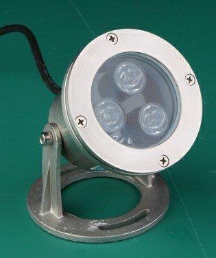 3*1WLED Underwater Light;DC12V input;IP68;Stainless steel housing;
