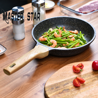 Master Star 20/26/30CM Aluminum Pot Non stick Pancake Steak Pans General Use For Gas And Induction Cooker