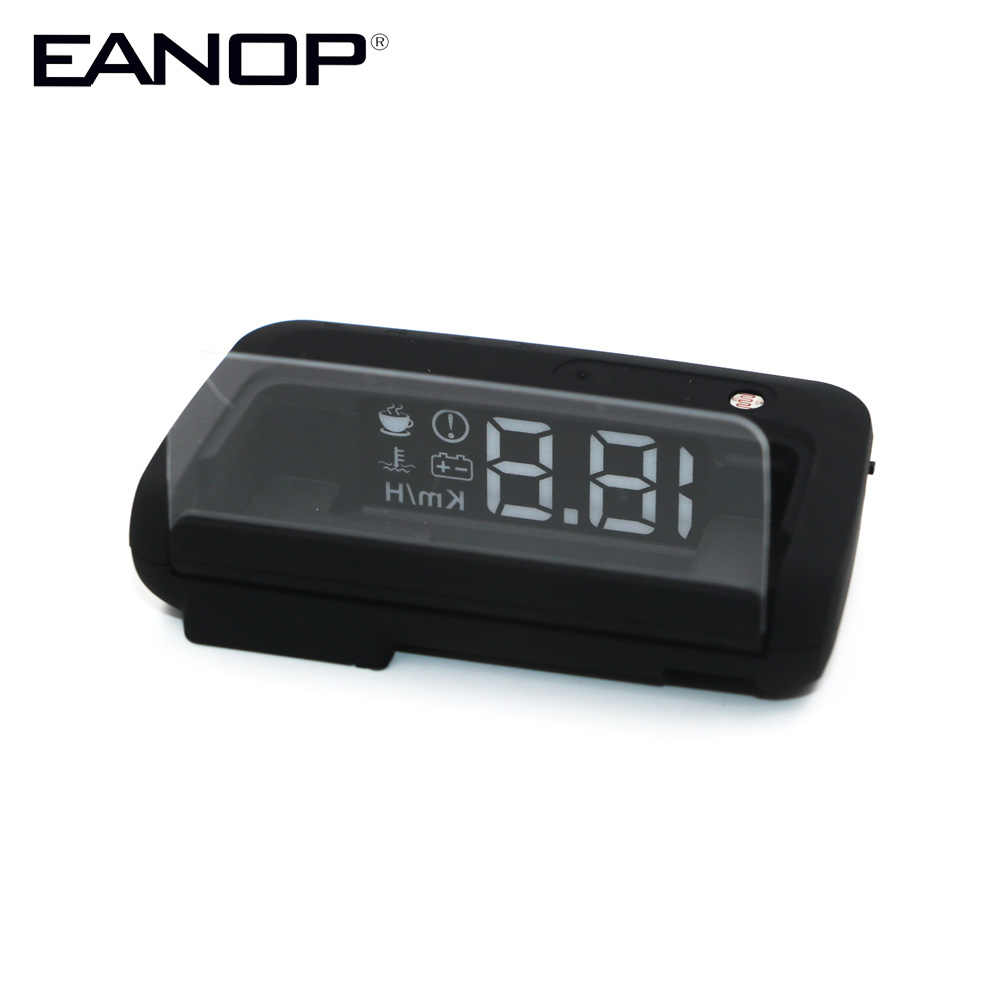 EANOP Mirror Smart HUD Head up display OBD2 Scanner Overspeed Alarm System Windshield speed Projector