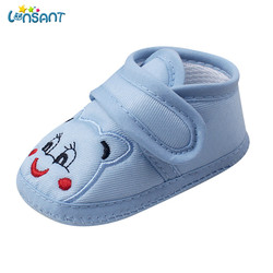 LONSANT/Новинка 2018 года; модная Милая тканевая нескользящая обувь для новорожденных девочек и мальчиков с мягкой подошвой; обувь для малышей