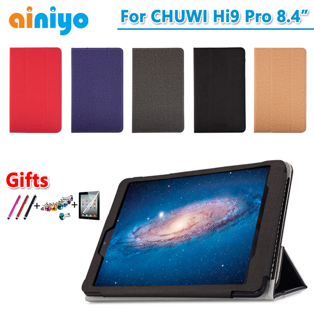 High quality Case For CHUWI HI9 Pro 8.4 Inch Tablet PC Fashion PU case cover for CHUWI hi9 pro + free Screen Film Gifts