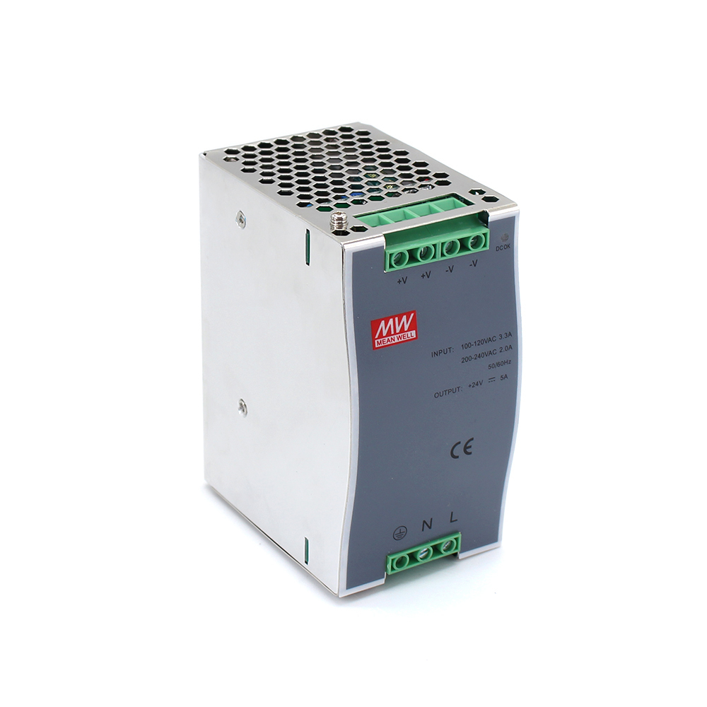 DR-120 Din Rail Power Supply 120W 24V 5A Switching Power Supply AC 110v/220v Transformer To DC 24v ac dc converter dr 240 din rail power supply 240w 48v 5a switching power supply ac 110v 220v transformer to dc 48v ac dc converter