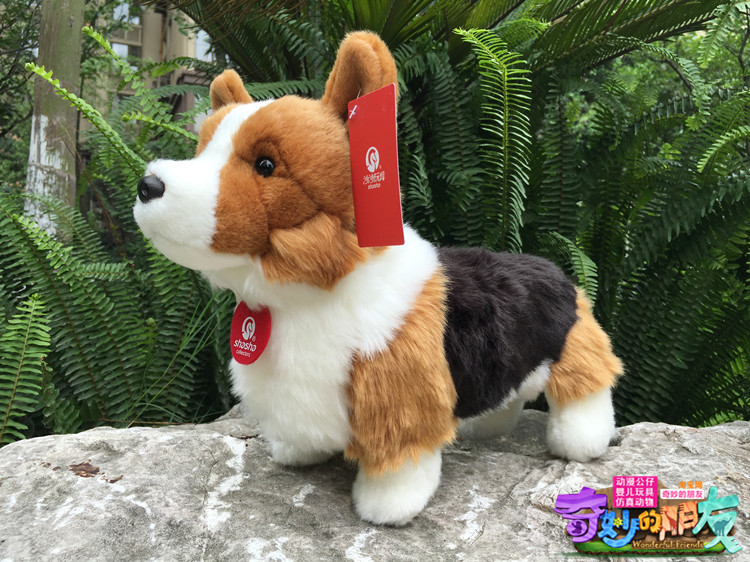 Standing  Corgi  Plush Doll  Simulation Animals Children'S Toys  Good Quality  Toy  Gift Store stuffed animal 44 cm plush standing cow toy simulation dairy cattle doll great gift w501