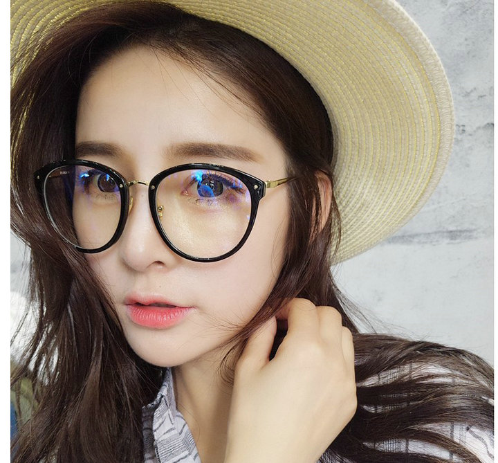 new women retro style optical glasses frame decorate eyewear cat eye big frame glasses fashionable glasses