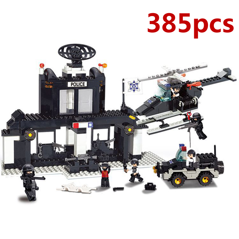 Police Station Building Blocks Bricks Educational Toys Compatible with Lepin City Police Model Building Blocks toys for children compatible lepin city blocks block police dog unit 60045 building bricks bela 10419 policeman toys for children