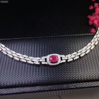 KJJEAXCMY fine jewelry 925 pure silver inlaid natural ruby female Bracelet support test