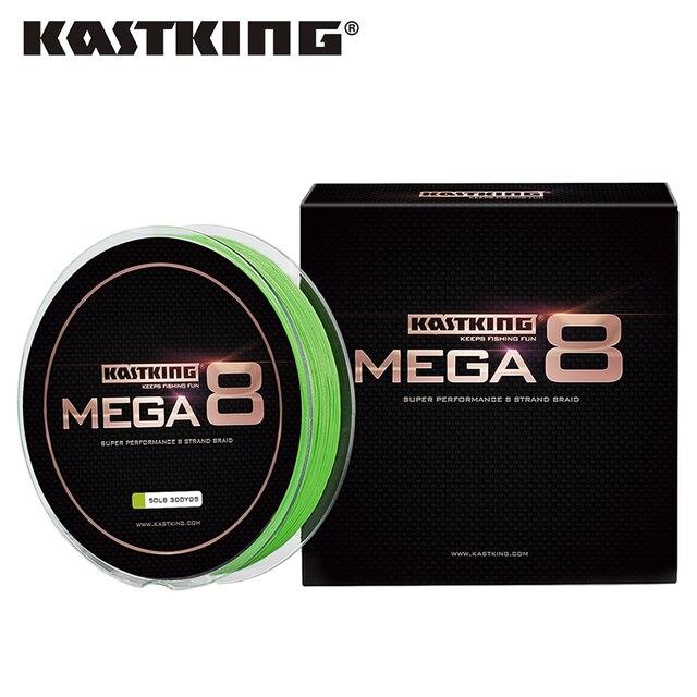 KastKing Mega8 Super Strong 274M 8 Strands Weaves PE Braided Fishing Line Rope Multifilament 20LB 25LB 30LB 40LB 50LB 65LB 80LB