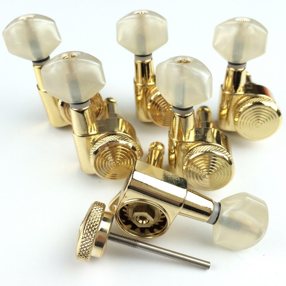 Золото гитарные блокирующие тюнеры Электрогитары ключи для настройки гитары JN 07SP Блокировка Колки (с упаковкой)