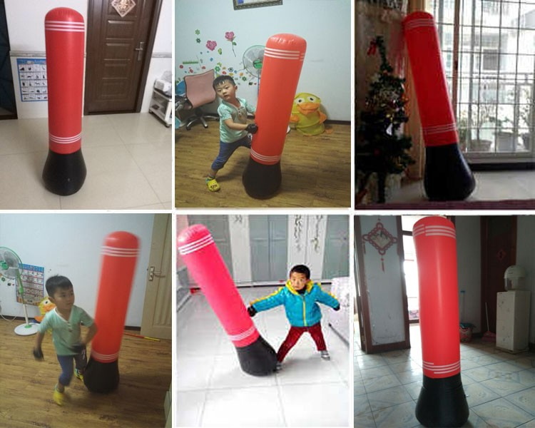 Air Pump Gift Kid Gloves Punching Bag Stand Tower Inflatable Ball Sd Boxing Ring Training Color Red In Balls