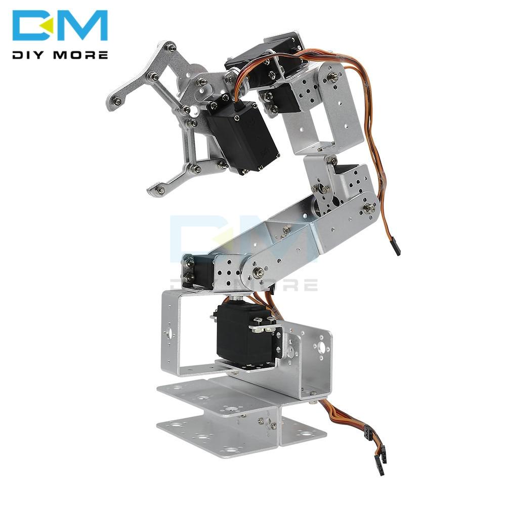 マニピュレータ ROT3U 6DOF アルミロボットアームの機械ロボットクランプ爪 arduino のためのシルバー -    グループ上の 電子部品