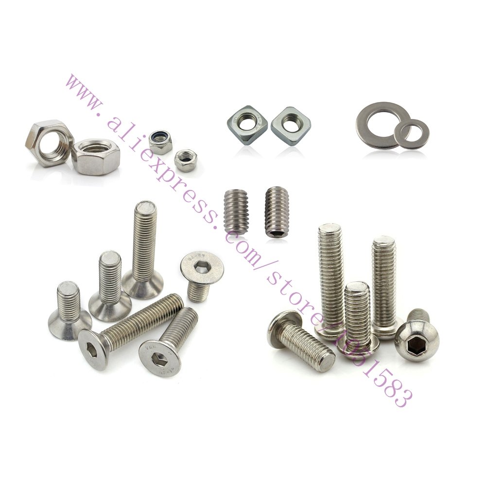 Ultimaker 2 DIY 3D Printer Nuts & Bolts Screw Full Kit,Ultimaker2 3d printer accessories Set Screw Washer Large Hex nut