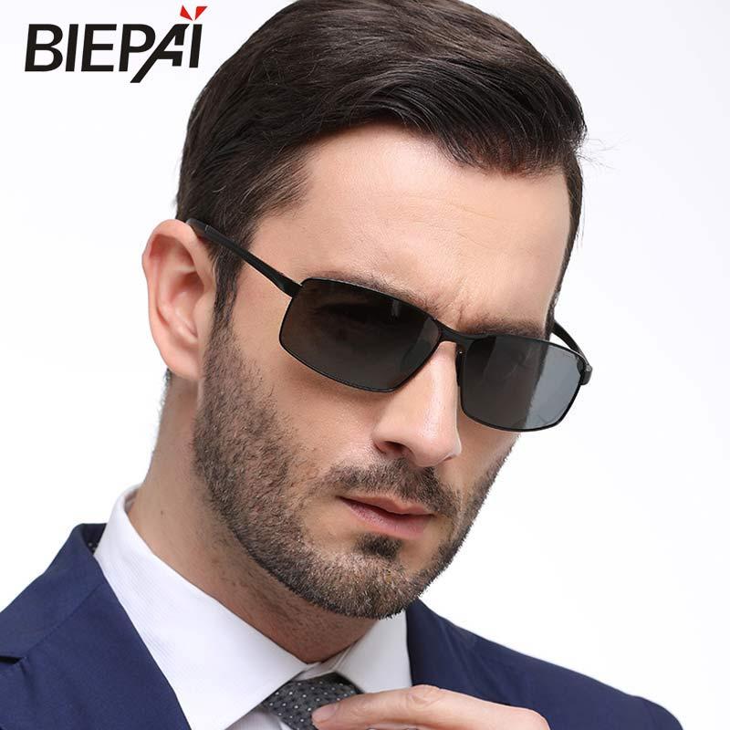 2018 Alloy Top Fashion New Biepai Polarized Sunglasses Hd Lens Metal Frame Vintage Sun Glasses For Men Driving Fishing 8541