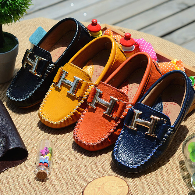WHOLESALE children shoes genuine leather large leather male single child casual shoes cowhide comfortable soft outsole kids