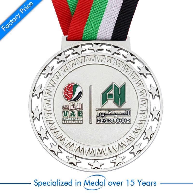 Promotional Custom Arab Sport Award Medal cheap custom United Arab Emirates  medals with ribbons